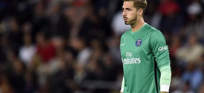 Kevin Trapp Paris Saint Germain, Kevin Trapp, Paris Saint Germain, Kevin Trapp vs Alphonse Areola, Ligue 1, Liga Prancis